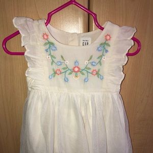 Baby gap 3-6 month white dress
